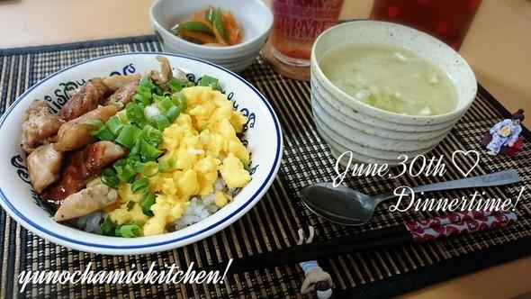 June,30th *鶏ささみ丼定食*