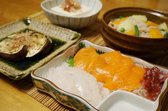 夕食☆お刺身定食