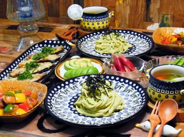 夏野菜と月に一度のパスタディナー