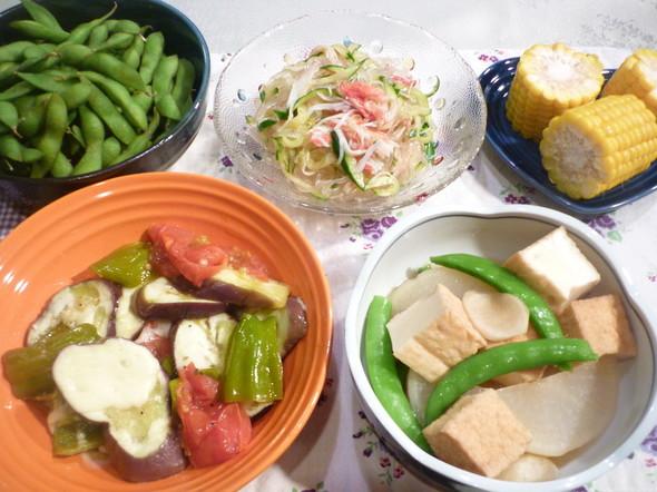 野菜中心のヘルシーな夕食☆