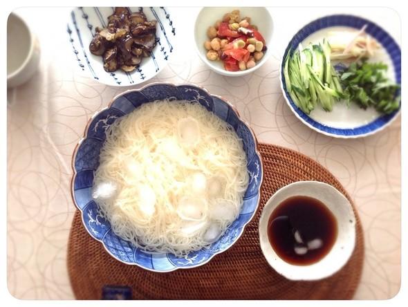 暑い日のお昼は簡単お素麺☆