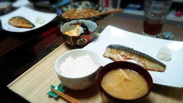 焼き魚で和食なご飯