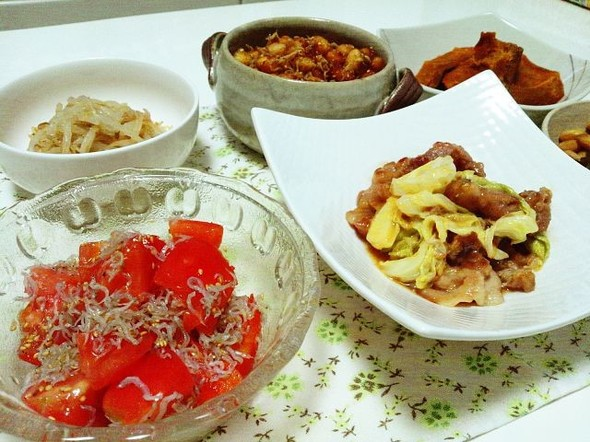 野菜&大豆な夕飯