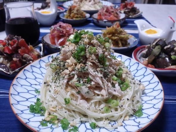アジア風汁なし麺♡