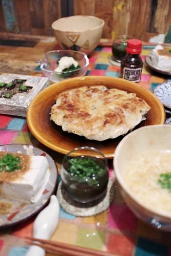 餃子で中華風な晩ごはん♪