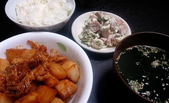 食べごたえ十分な夕飯☆