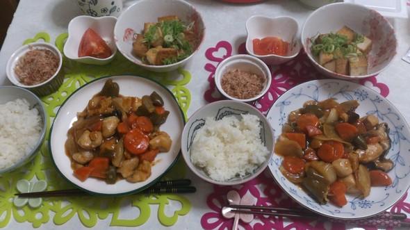 酢鶏定食♪