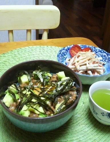 12.10.02(火)アボカド納豆丼…★