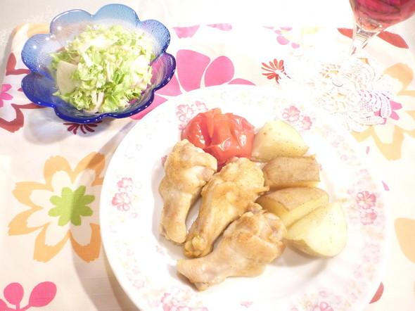 タンドリーチキンで簡単美味しい晩ごはん☆