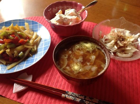 野菜と柿を味わうランチ