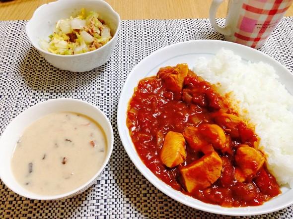 ☆トマトカレーの晩御飯☆