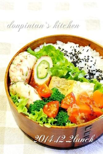 お弁当/お魚の代わりに練り物+ツナ