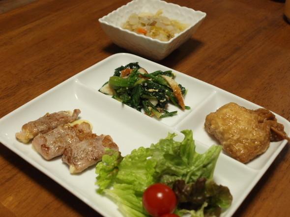 豚のチーズ巻き焼きで晩御飯(1/5)