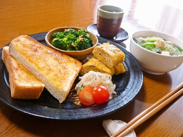 ✿休日のトースト和風ランチ✿