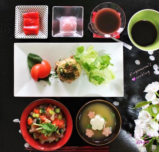 @うちカフェ~桜咲くカフェ気分のランチ❀