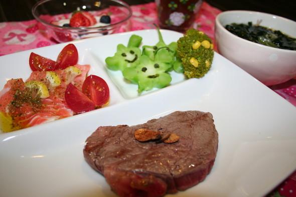 2015.2.22 牛肉ヒレステーキ夕食