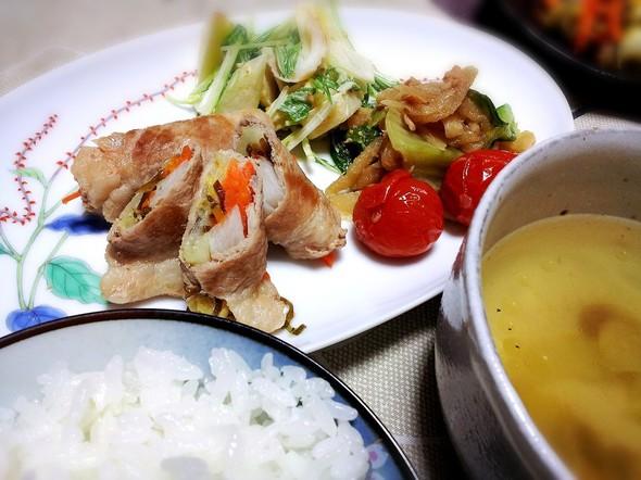 長芋と白菜の豚肉ロール