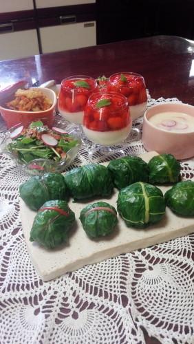 自家栽培の野菜&苺で幸せランチ②