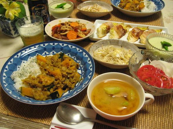 たっぷりお野菜とビールで晩御飯⑤^^