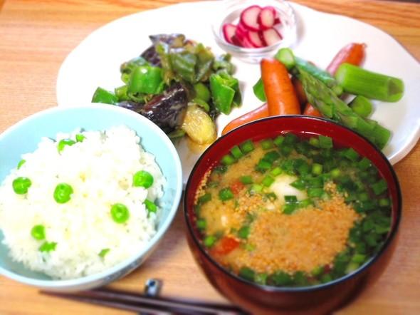 お野菜たっぷり休日朝ごはん①