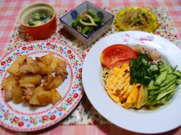 鶏じゃがと小松菜もやしの美味しいレシピ♡