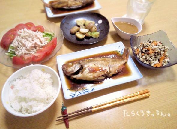 メバルの煮付けで❀夕飯