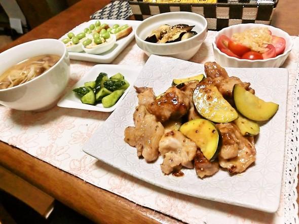 鶏ズッキーニ炒めで夕食6/30