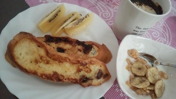 アーモンドミルクのフレンチトースト♡