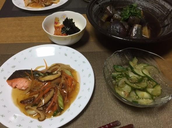 7月11日 鮭のあんかけで夕ご飯♪