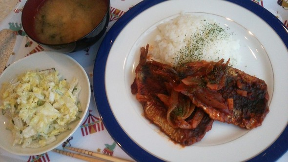 ケチャップ焼き丼×白菜和風シーザーサラダ