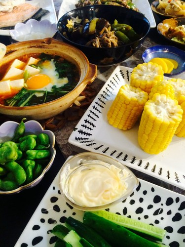 居酒屋風ご飯と夏野菜たっぷり♪