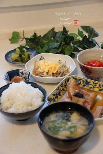 赤魚の梅干し煮 で夕ご飯^^