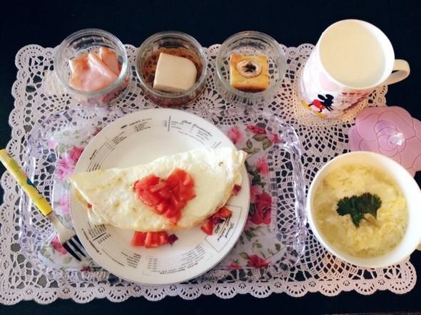 卵白,白いオムレツでお昼ごはん♡
