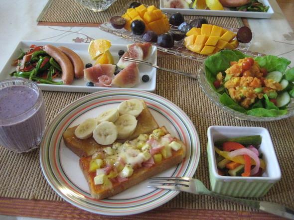 朝からトロピカルな朝食^^