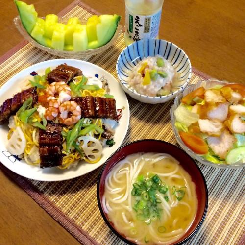 ちらし寿司の晩ご飯~♪