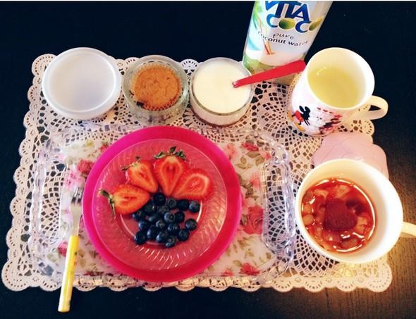 脂肪燃焼スープで朝ごはん♡
