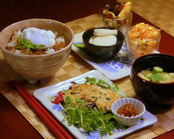 常備菜で簡単夕食