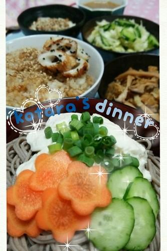 蕎麦&鰹節胡麻ご飯✿こたら家の夕飯-76