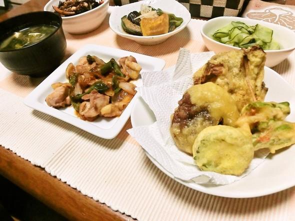 天ぷら&ひじき煮で夕食9/3