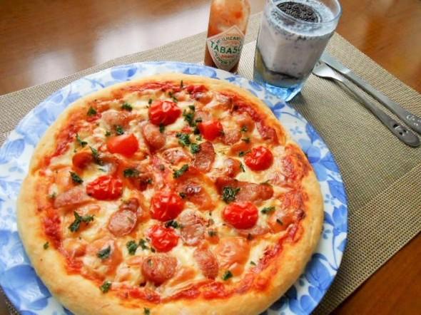 ☆ピザの昼ごはん☆